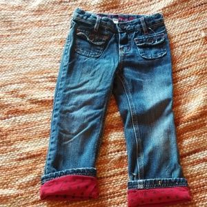 Girls 4t gap polka dot Jeans